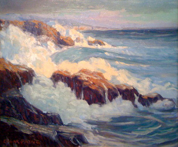 Seascape, Egar Payne, oil on canvas, 63 x 76cm,