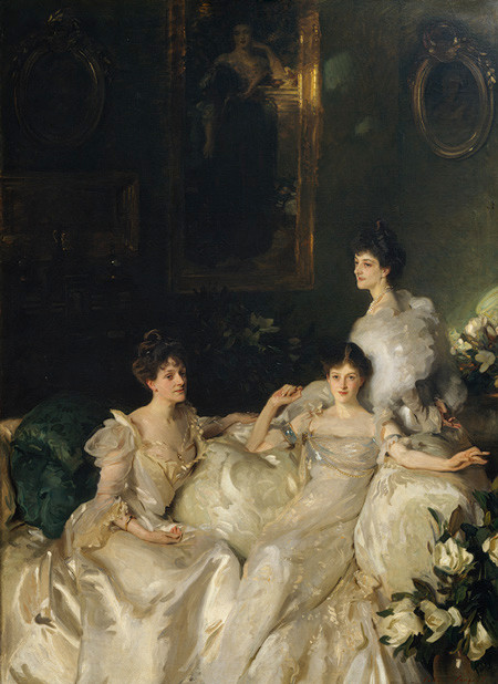 The Wyndham Sisters – Lady Elcho, Mrs. Adeane, and Mrs. Tenant, John Singer Sargent, 1899, oil on canvas, 292 x 213.cm, Metropolitan Museum of Art