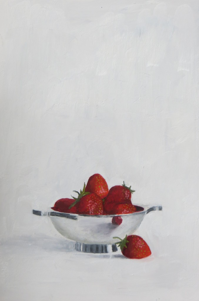 Silver bowl with Strawberries