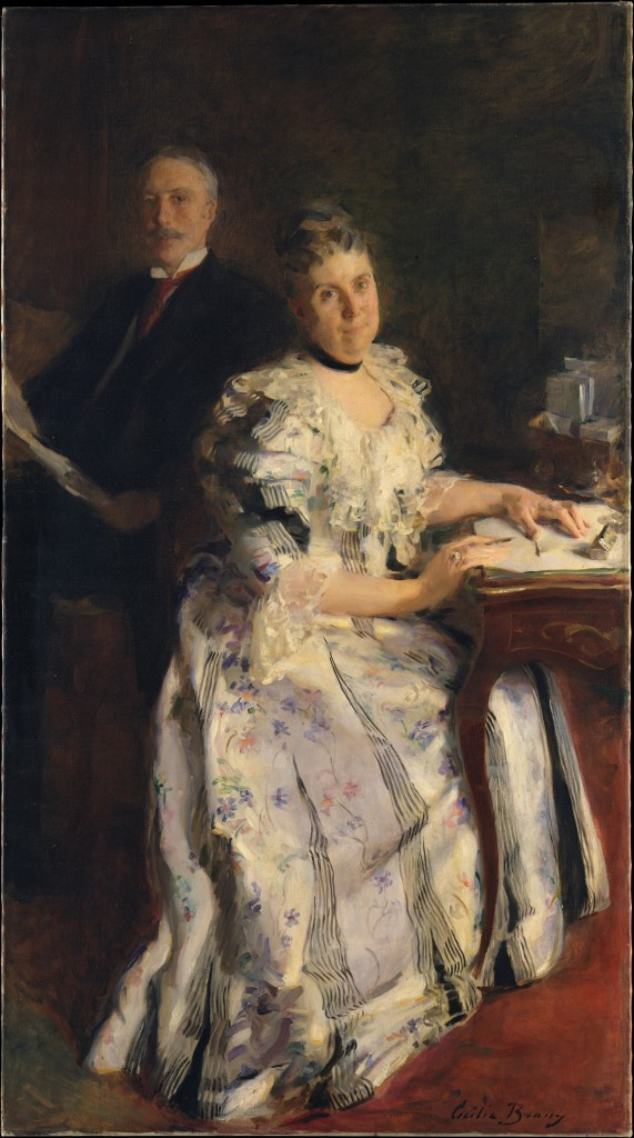Mr and Mrs Anson Phelps Stokes, 1898, oil on canvas, 183x101cm, Cecilia Beaux, Metropolitan Museum of Art, New York