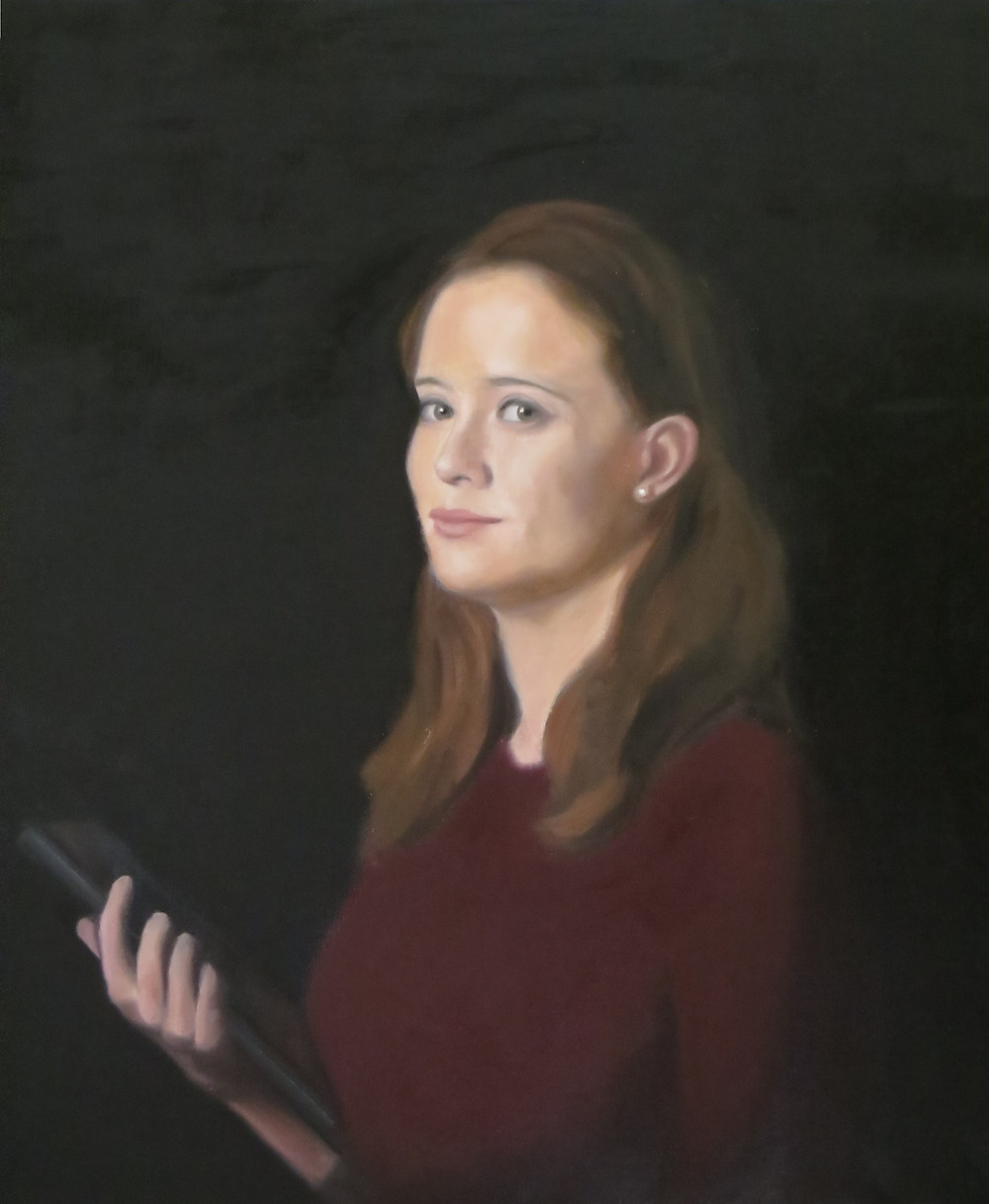 Rebecca, huile sur toile, 70x 60cm, 2013