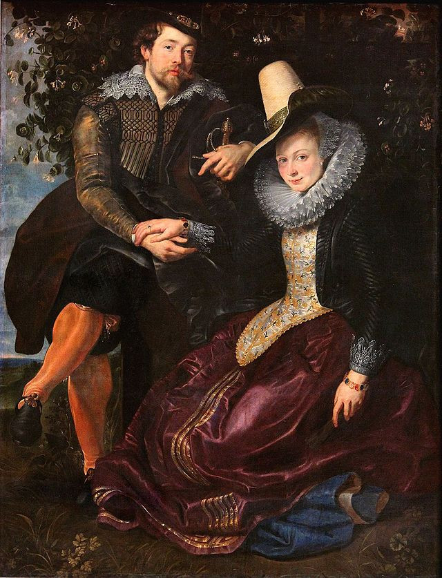 The Artist and His First Wife, Isabella Brant, in the Honeysuckle Bower, Peter Paul Rubens, c. 1609, oil on canvas, 178 x 136.5cm, Alte Pinakothek, Muich