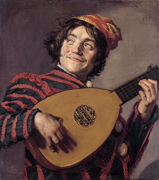 Buffoon playing a lute, Frans Hals, c.1623 – 1624, oil on canvas, 70 x 62cm, Musee du Louvre, Paris