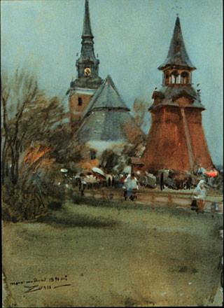 Anders Zorn, Mora, watercolour