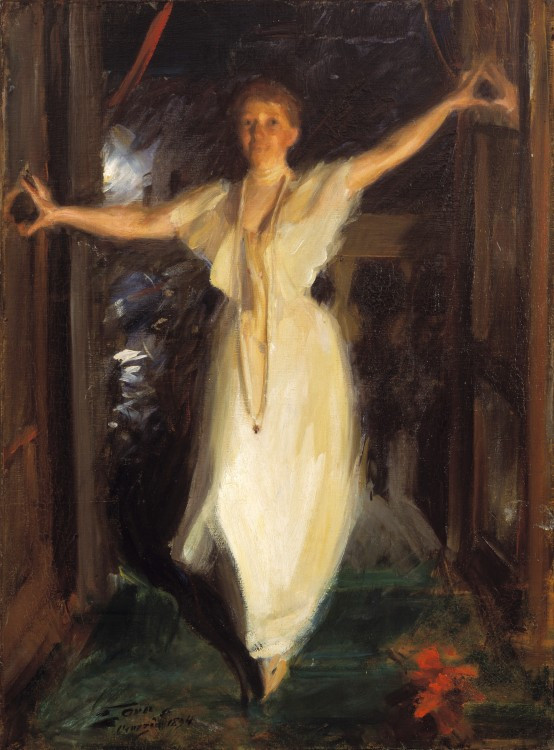 Isabella Stewart Gardner in Venice by Anders Zorn, oil on canvas, 90 x 66cm, 1894, Isabella Stewart Gardner Museum, Boston
