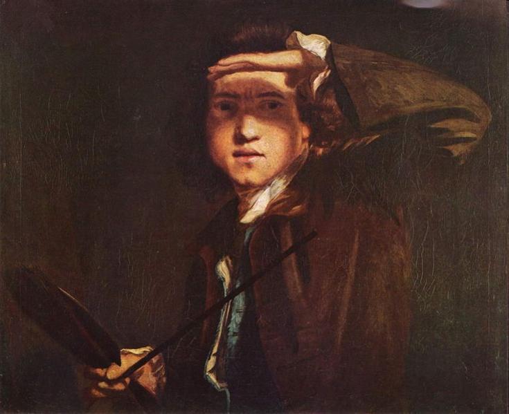 Sir Joshua Reynolds by Sir Joshua Reynolds, c. 1747-1749, oil on canvas, 63.5 cm x 74.3 cm), National Portrait Gallery, London