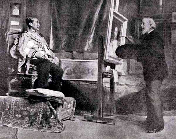 Carolus Duran painting under sigthsize portrait of the King of Siam, 1907