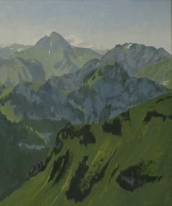 Le Mont de Grange et le Mont Blanc