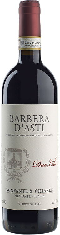 "Barbera D'Asti DOCG ""Due Lilu"" - Bonfante e Chiarle -Piedmont"