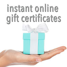 Instant Online Gift Certificates for Esthetic Services in Sidney and North Saanich, BC