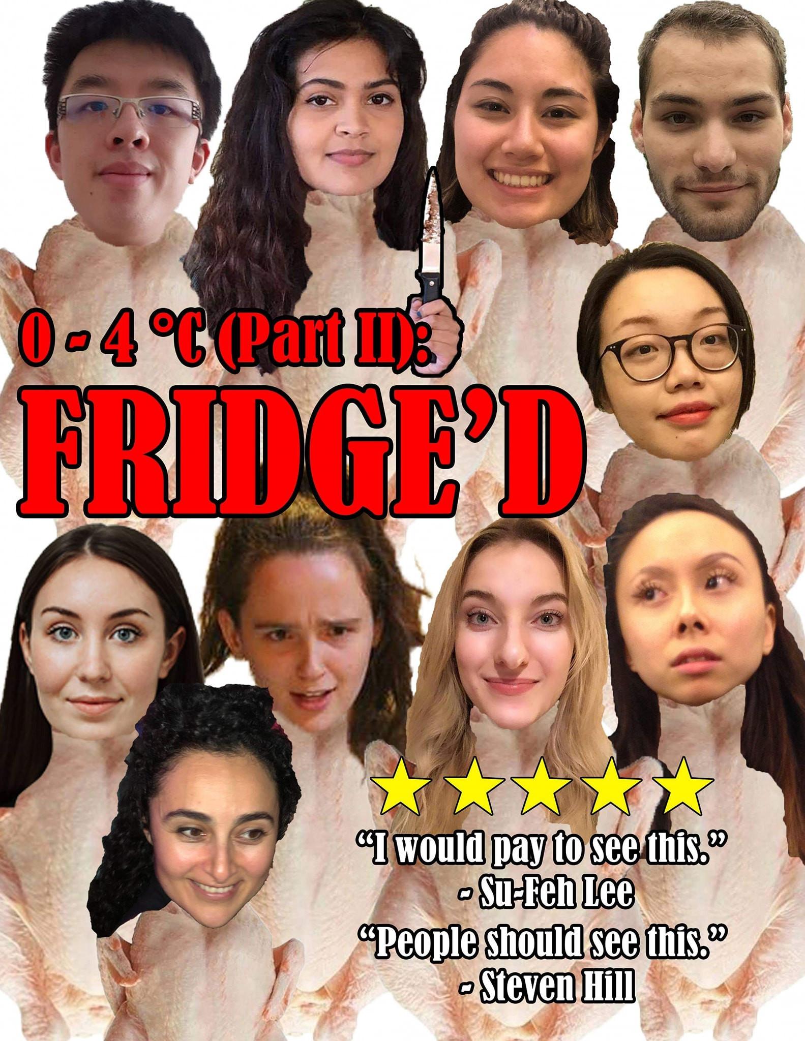 0-4 degrees fridge'd