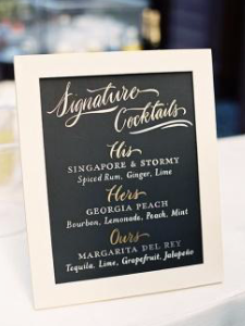 Personal Touches to your Signature Cocktail