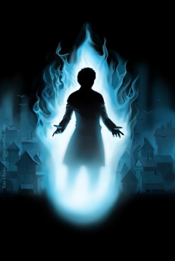 """Julia Lange's """"Irrlicht Feuer"""" cover illustration"""