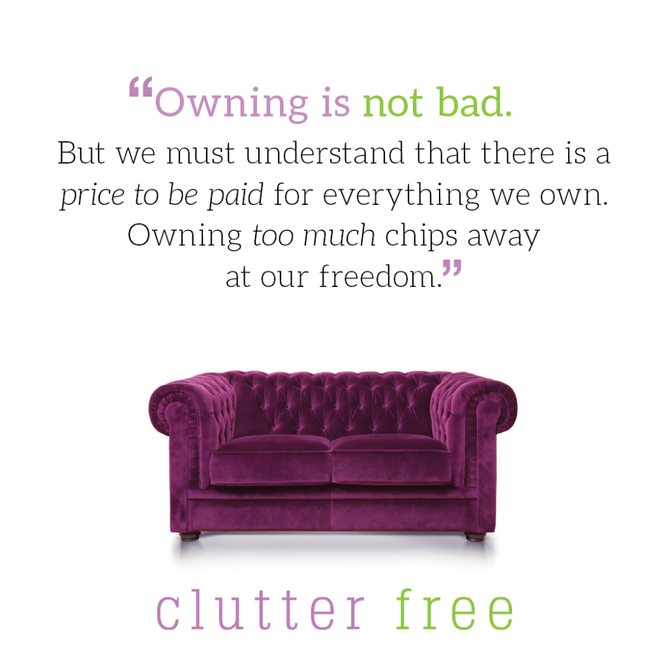THE PRICE OF CLUTTER