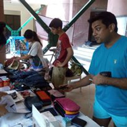 Goonjs stall at a Collection drive