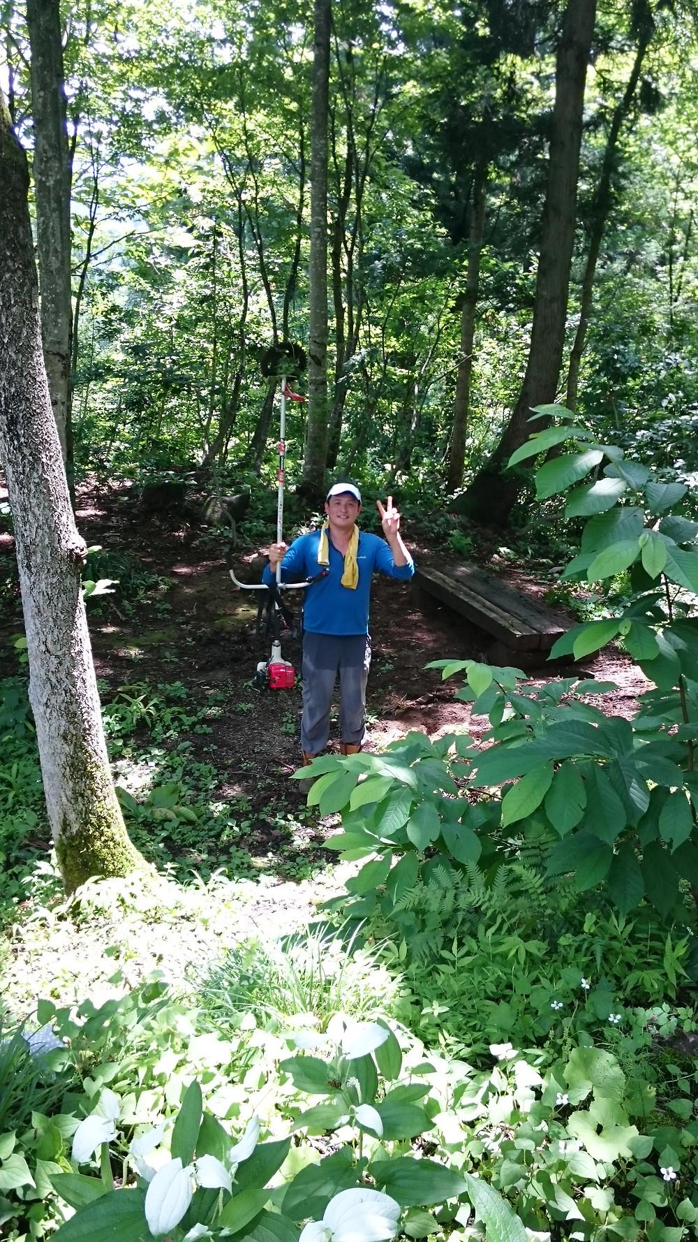 去年の森の整備の写真です(原さんありがとうございます)。