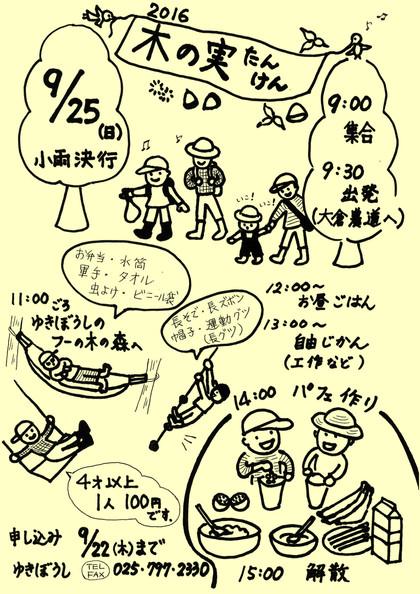 9/25(日)木の実たんけんへ行こう!
