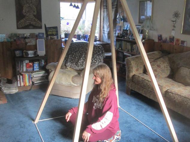 Ariona inside my Nubian Meditation Pyramid