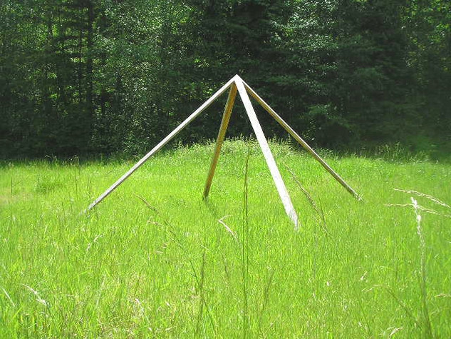 Custom Built Meditation Pyramid in the grass