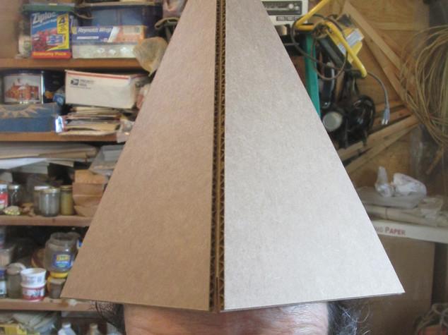 Nubian Cardboard Head Pyramid: Working the energy!