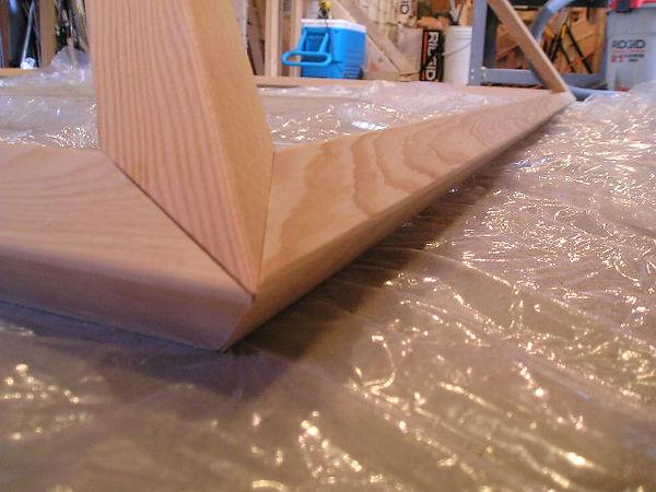 The 2x2 Giza Meditation Pyramid: close up view of corner