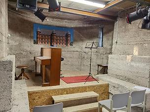 Fundament des Kirchturms Heilig Geist Karlsruhe Daxlanden.jpg
