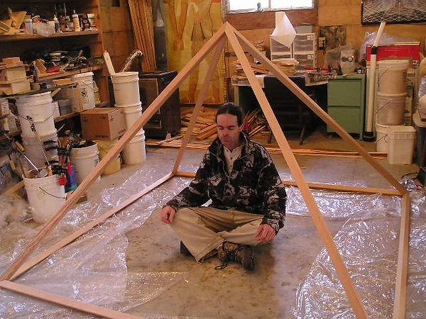 Sitting inside my 2x2 Giza Meditation Pyramid