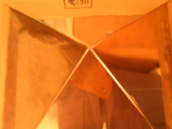 The Giza Copper Pyramid Capstone: top view