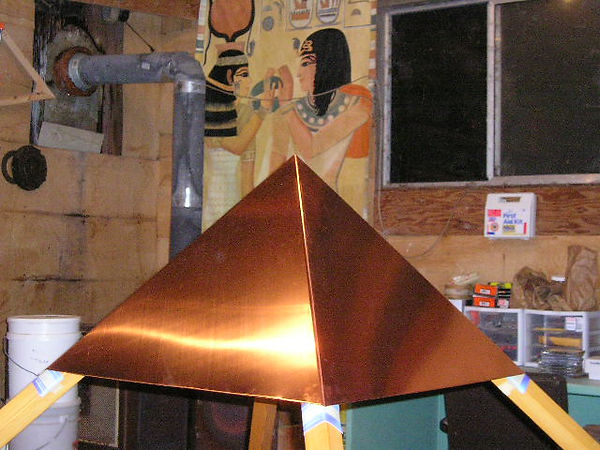 Another view of The Giza Copper Pyramid Capstone