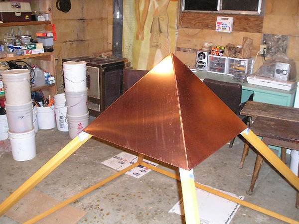 The Giza Copper Pyramid Capstone