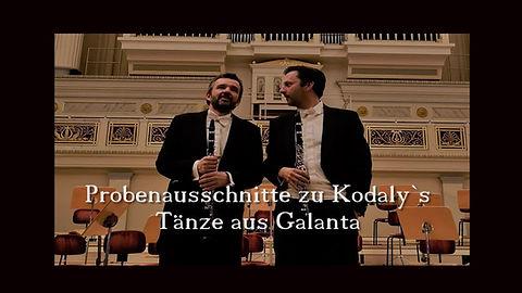 Die Glarineddemuggels Öffentliche Probe Tänze aus Galanta f. 2 Klarinetten