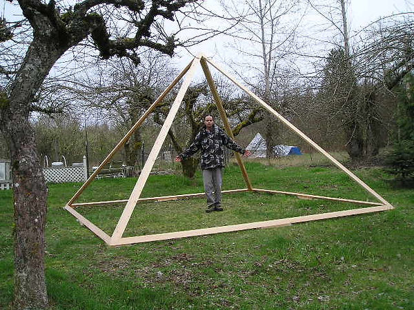 Standing in a Custom Built Deluxe Giza Meditation Pyramid built to my ideal size.