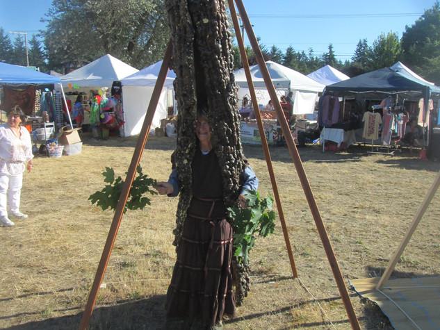 Tree ent inside my Nubian Meditation Pyramid