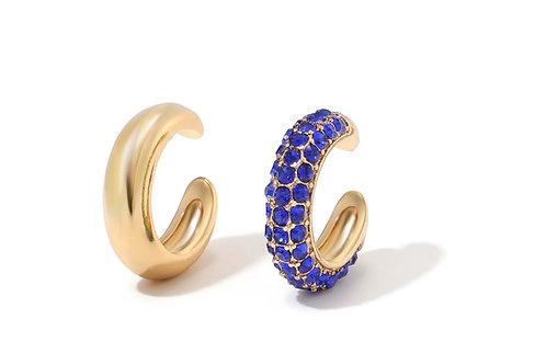 Klasik blue earcuff