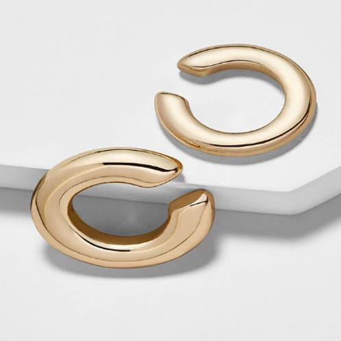 Klasik altın rengi earcuff