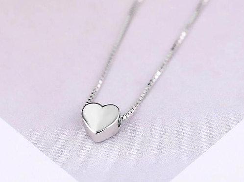 Mini Kalp Gümüş kolye