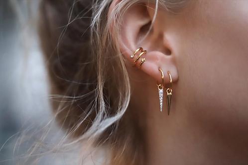 İkili stars earcuff