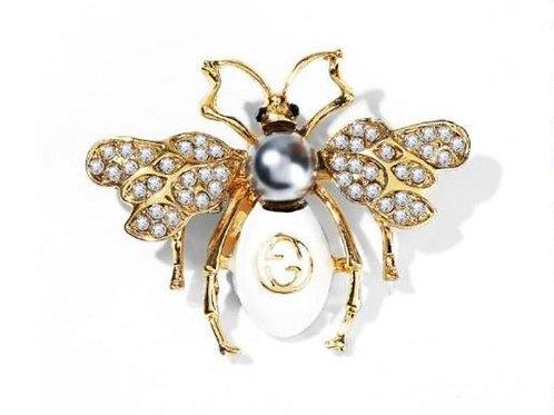 Bee Beyaz Broş