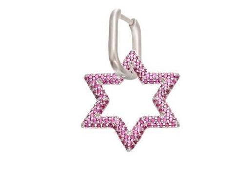 Pinky star halka küpe