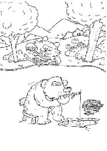 Oombee Woombee Books Colour In Bear and