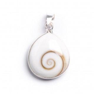 Small Simple drop Shiva Shell Pendant