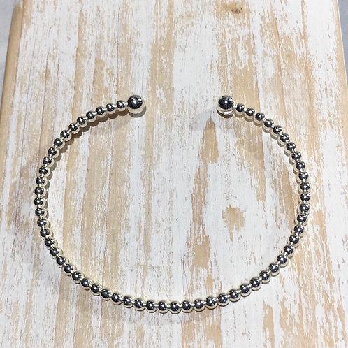 Silver bead bangle
