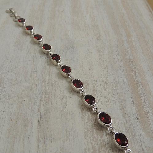 Cut Garnet stone Bracelet