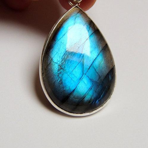 Labradorite teardrop shaped pendant