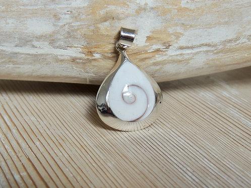 Tear Drop Shiva Eye Shell Pendant