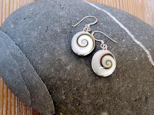 Oval Shiva Drop Earring