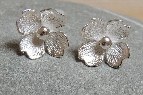 Flower Silver Stud
