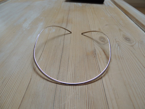 Solid Silver Torque 3mm Thick