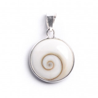 Small Round Shiva Shell Pendant