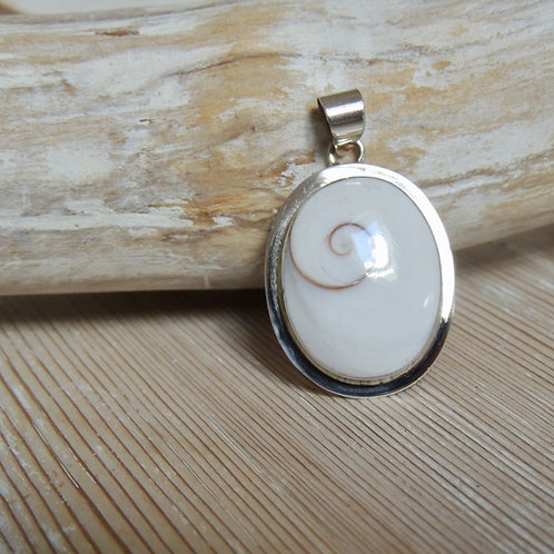 Large Oval Shiva Eye Shell Pendant